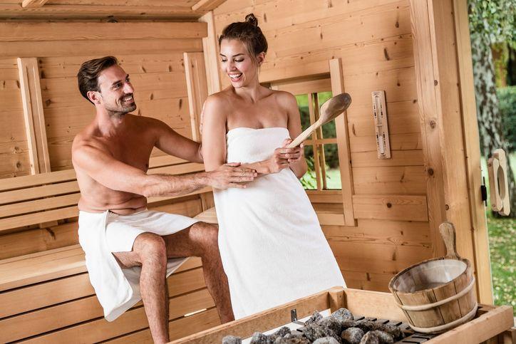 Blockhütten Sauna