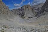 Abstieg vom Santner-Pass - Blick auf die Gartlhütte
