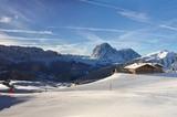 Baita Daniel Hütte im Winter