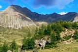 Die Hirzerspitze (links, 2781m) von Westen