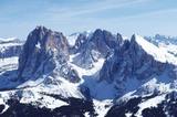 Die Seiseralm mit Langkofelgruppe (3181m)