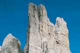 Die Vajolettuerme (2821 m) im Rosengartengebiet