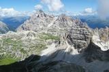 Dreischusterspitze, Schusterplatte und Paternkofel vom Gipfel der Kleinen Zinne