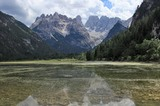 Duerrensee mit Piz Popena (3152m) und Monte Cristallo (3154m)