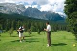 Golfen am Karerpass mit Latemar