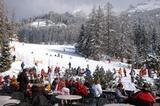 Im Skigebiet Obereggen sonnen und relaxen