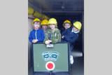 Kinder im Wagen im Schaubergwerk Kupferplatte