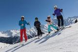 Skifahrer-Gruppe