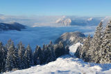 Ausblick von der Vorderkaiserfeldenhütte im Winter