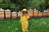 Jungimkerin Sabrina Christen bei der Honigernte im Naturschutzgebiet Wilder Kaiser