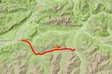 Karte Brixental-Mountainbike-Tour