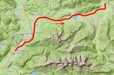 Karte Fahrradtourvon  Kufstein nach Kössen