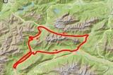 Karte Mieminger Gebirge Mountainbike-Tour