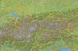 Karte Ostalpen Relief