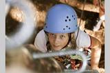 Kind im Klettersteig