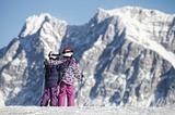 Kinder im Skigebiet Lermoos (Grubigstein)