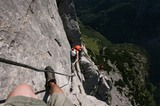 Klettersteig in Südtirol