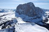 Luftbild Langkofel mit Skigebiet