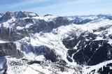 Luftbild vom Skigebiet Grödnerjoch