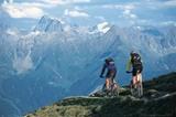 Mountainbiker in der Region