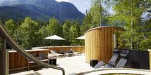 Naturhotel Waldklause Terrasse