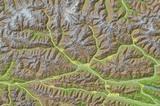 Osttirol Karte Relief