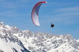 Paragliding im Winter