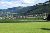 Pfalzen mit Landwirtschaftsfläche