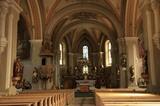 Pfarrkirche von Wengen Innenansicht