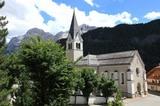 Pfarrkirche von Wengen mit Kreuzkofel