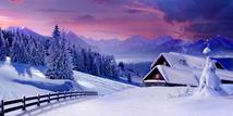 Romantische Bergweihnacht