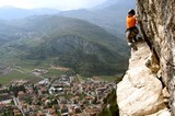 schöne Aussicht im Klettersteig
