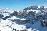 Sellagruppe und Skigebiet Grödnerjoch