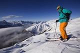 Skifahrer am Thurntaler