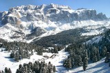 Skihütte Baita Vallongia in den Dolomiten
