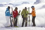 Skispaß im verschneiten Südtirol