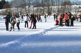 Spaß am Eislaufplatz