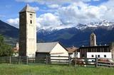 St. Benediktskirche in Mals (Entstehung der Kirche reicht in die Zeit Karl des Großen um 800 zurück)