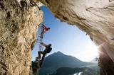 Steinwand Klettersteig in Arzl