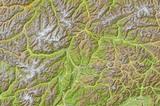 Südtirol Karte Relief