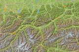 Tirol Karte Relief