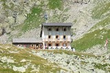 Tribulaunhütte auf den letzten Metern des Hüttenanstiegs