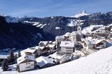 Wengen im Gadertal winterliches Dorfbild