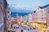 winterliche Maria Theresien Straße