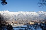 Winterstimmung in Innsbruck - im Hintergrund die Nordkette